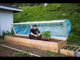 hinged hoophouse for raised bed