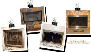 glass fireplace doors custom glass
