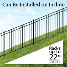 Ironcraft Berkshire Berkshire 4 Ft H X 6 Ft W Black Aluminum Flat Top Yard Lowes Com Backyard Fences Fence Styles Rustic Fence