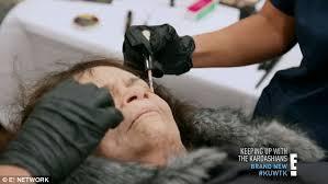 kim kardashian tests her makeup skills