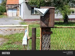 Rusted Broken Mailbox Image Photo Free Trial Bigstock