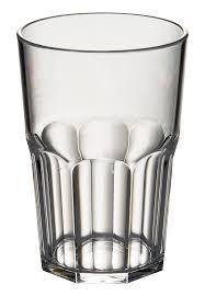 polycarbonate octagon tumbler glasses