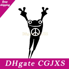 2020 17 9cm Frog Peace Sign Fingers Die Cut Vinyl Decal Sticker New Style Hot Vinyl Car Wrap Decor Decals From Wnmdksi 8 32 Dhgate Com