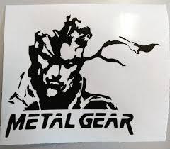 Metal Gear Car Vinyl Decal Car Decal Playstation Ps4 Etsy