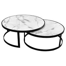 mirabello 2 piece faux marble topped
