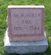 Iva Burkett Fox (1891-1944) - Find A Grave Memorial