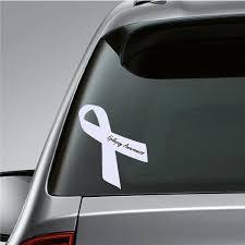 Epilepsy Awareness Ribbon Vinyl Sticker