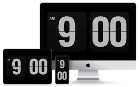 fliqlo flip clock app and screensaver