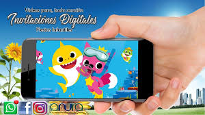 Invitacion Video Digital Baby Shark Cumpleanos 260 00 En