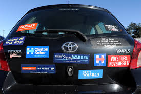 Why Political Campaigns Want To Send You A Bumper Sticker Time
