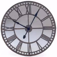 large industrial mirror wall clock
