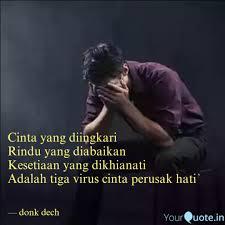 cinta yang diingkari rind quotes writings by donk dech