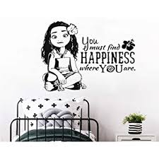 Amazon Com Xiaomeihao Moana Princess Silhouette Pvc Wall Decal Cartoon Movie Character Wall Stickers For Kids Rooms Children S Decoration Decals 77x57cm Kitchen Dining