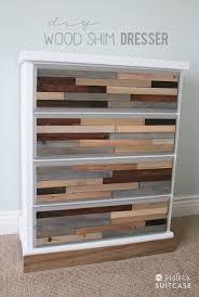 diy wood shim dresser tutorial