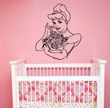 Cinderella Wall Decal Vinyl Sticker Disney Princess Art Etsy