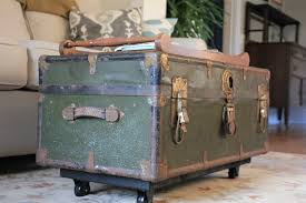 old world steamer trunk coffee table