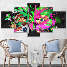 High Quality Canvas Print Type 1 Panel Style Game Poster For Children Room Wall Decorative Unique Gift Splatoon 2 Painting Painting Calligraphy Aliexpress
