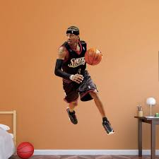Fathead Nba Philadelphia 76ers Allen Iverson Legend Wall Decal Philadelphia 76ers Hayneedle
