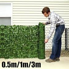 0 5 1 3m Artificial Hedge Leaves Faux Ivy Leaf Privacy Fence Screen Garden Decor Backyards Decoration Wish