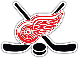 Amazon Com Hotprint Red Wings Hockey Detroit Sticks Sport Car Bumper Sticker Decal 5 X 4 Kitchen Dining