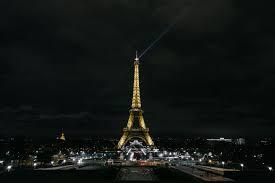 خلفية برج ايفل باريس ليلة المدينة أضواء المدينة فرنسا Hd