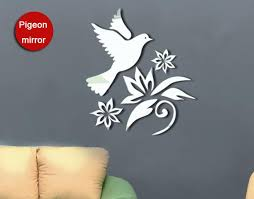 3d Dove And Flowers Mirror Wall Art Decal Sticker Living Room Decoration Wall Art Mural Decor Home Decal Decor Funny Birthday Gifts Men Funny Cheap Gag Gifts From Magicforwall 7 04 Dhgate Com