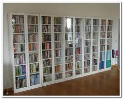 bookshelves with glass doors appealing