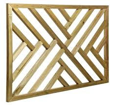 tised timber modern trellis panel