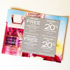 bath and body works in the mail