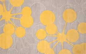 yellow and grey bath rug