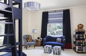 Navy Kids Bedroom With Navy Bunk Beds Transitional Boy S Room