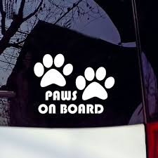 Paws On Board Dog Puppy Foot Car Sticker Car Styling Car Decal Wish