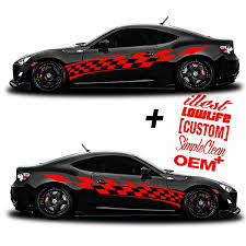 Vinyl Body Side Graphics Racing Stripes Car Sticker Decals Universal 201 Red Ebay
