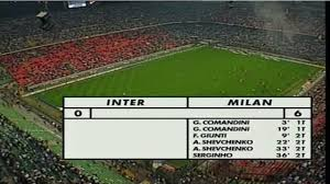 Accadde Oggi 11 maggio 2001 Inter-Milan, sei reti per i rossoneri