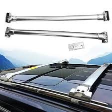 Rokiotoex Roof Rack Crossbar Side Rail Cross Bar Fit 2011 2020 Jeep Grand Cherokee Chrome Side Rails Cargo Luggage Carrier Stainless Steel Silver Rokiotoex