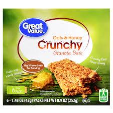 great value crunchy granola bars oats