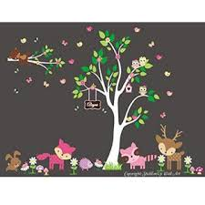 Nursery Wall Decals Baby Girl S Wall Decals Baby Room Wall Stickers Large Animal Decals Cute Forest Wall Decals Deer Decal Racoon Decal
