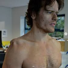 sam heughan s special effects makeup