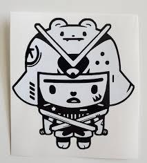 Little Samurai Vinyl Decal Sticker Etsy