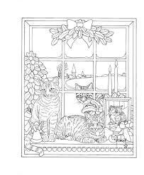 Franciens Katten Kerstkleurboek Om Te Versturen Francien Van
