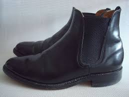 black leather chelsea ankle boot 790b