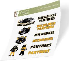 Amazon Com University Of Wisconsin Milwaukee Uwm Panthers Ncaa Sticker Vinyl Decal Laptop Water Bottle Car Scrapbook Type 2 Sheet Arts Crafts Sewing