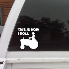 Amazon Com Eye Candy Signs This Is How I Roll Funny Car Decal Window Sticker Home Kitchen