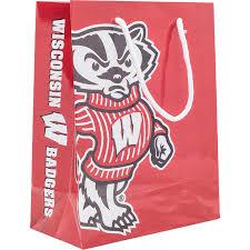 neil enterprises bucky badger gift bag