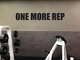 Motivational Gym Wall Decal One More Rep 08