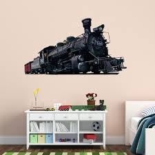Vwaq Train Wall Decals Steam Locomotive Train Sticker Kids Wall Art