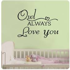 33x24 Owl Always Love You Heart Cute Wall Decal Etsy