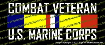 Combat Veteran Usmc Us Marine Corps Vinyl Die Cut Sticker Decal Vscvcb Flightline Fabrications
