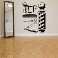 Robot Check Decal Wall Art Vinyl Wall Art Decals Barber Shop