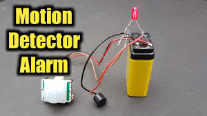 motion detector alarm using pir sensor